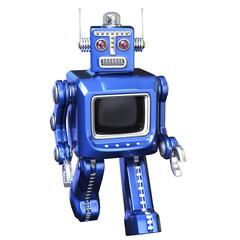 robot walking down