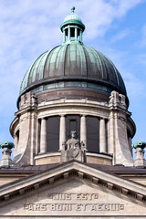 Facade and Dome of the Supreme Court of Hamburg