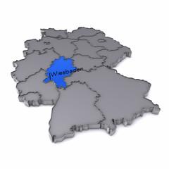 Karte - Hessen - Wiesbaden