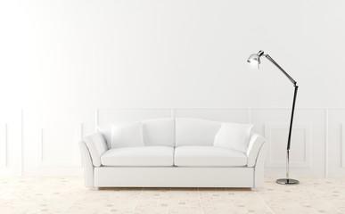 White sofa in luminous room