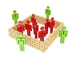 Leadershop concept.