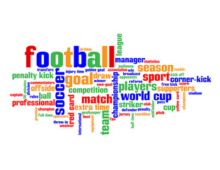 FOOTBALL Tag Cloud (soccer sport goal match player live scores)