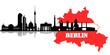 Fototapeten,berlin,skyline,contour,sehenswürdigkeit