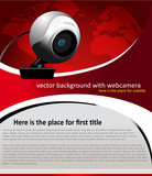 vector background with web camera