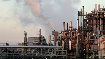 Oil refinery - time lapse Full HD