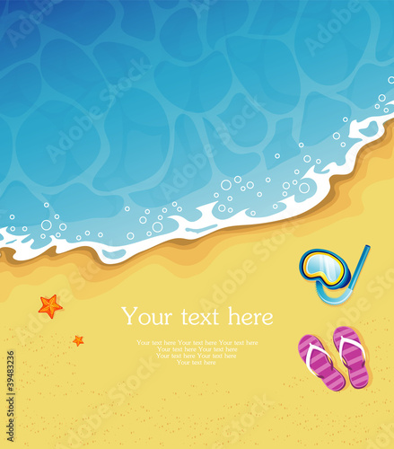 Vector illustration of Summer tropical banner