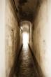Leinwanddruck Bild - luce alla fine del tunnel
