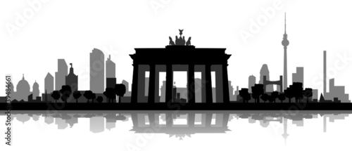 Leinwandbilder,berlin,skyline,icon,sehenswürdigkeit