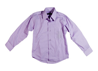 Light-violet shirt.