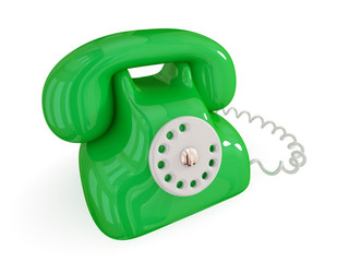 Cartoon retro telephone.