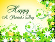 abstract st patrick's background