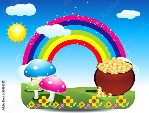 abstract st patrick's rainbow background