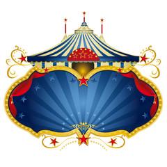 Magic blue circus frame