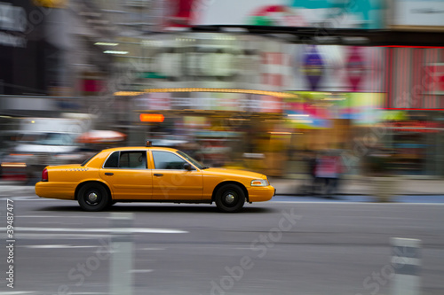 Taxi am Times Square, New York City, USA