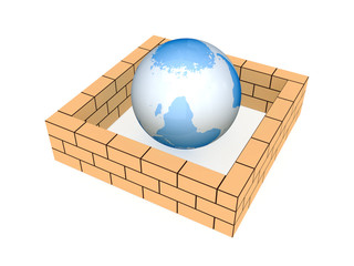 Brick wall around the Earth.