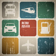 Vector vintage transport (traffic) poster
