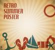 Vector summer poster