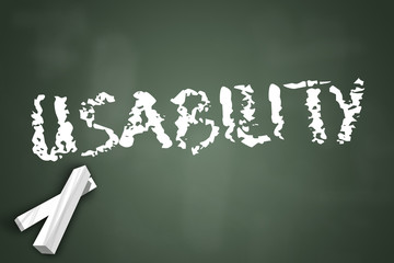 "Chalkboard ""Usability"""