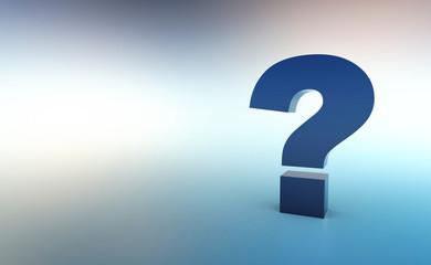 Die große Frage Blau Silber