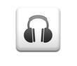 Boton cuadrado blanco simbolo auricular