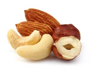 Nuts in closeup