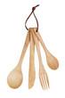 Wooden spoon, fork, knife