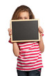 Girl with blackboard