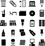 Fototapety Office supplies icons
