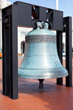 Replica freedom bell in front of Union Station poster