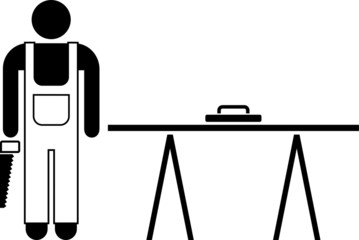 Pictogram of a carpenter
