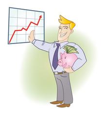Ilustración ganancias