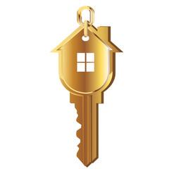 House key gold vector