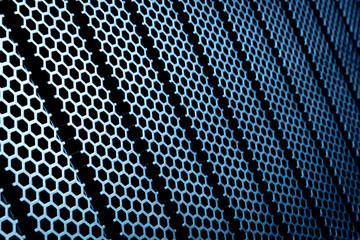 abstract metallic grid