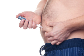 Fat Man Insulin Injection