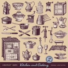 Kuchnia i gotowanie (2) - różne zabytkowe ilustracje