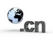 3D Domain cn mit Weltkugel