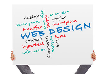 hand holding Poster web design