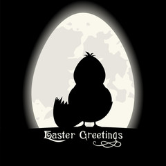 Easter Greetings card. Black design