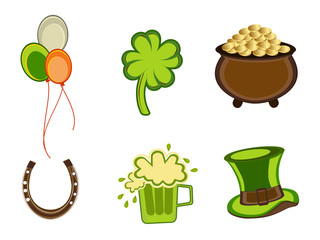 St.Patrick's Day symbols.Vector illustration.