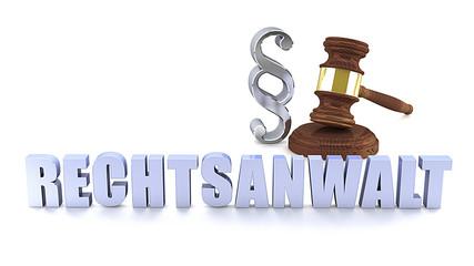 Rechtsanwalt - Paragraph - Richterhammer