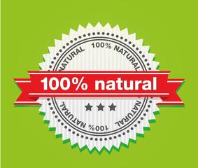 100% natural schild