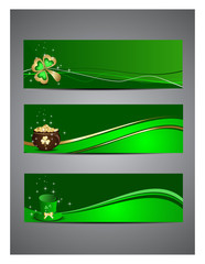 Abstract, A set of headers for St. Patrick's Day.