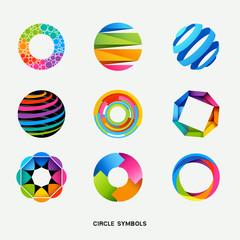 Circle Design Symbols Collection