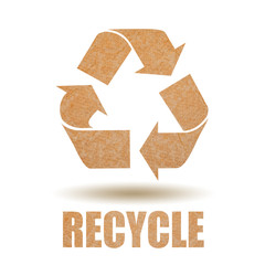 Recycle paper symbol