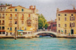 Venice in painting style