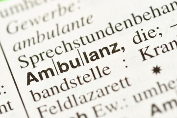 Ambulanz im Wörterbuch