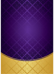 Vector gold & purple background