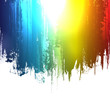 Gradient paint splashes background. Vector eps10 effect