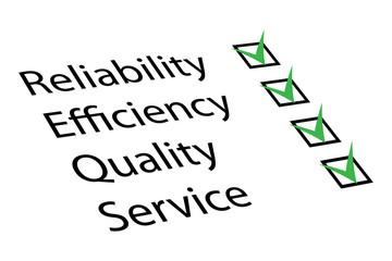 Reliability, Efficiency, Quality, Service