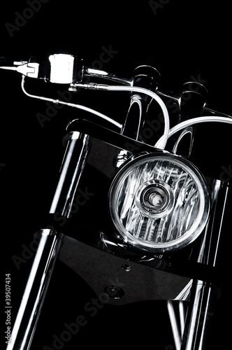 Chrome chopper handlebars